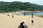People relaxing at Hung Sing Ye Beach,Lamma Island,Hong Kong                                                                                                                                             Stock Photo - Premium Rights-Managed, Artist: Oriental Touch           , Code: 855-03021882