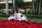 Girls pose for photo at the square,Ho Chi Minh City,Vietnam                                                                                                                                              Stock Photo - Premium Rights-Managed, Artist: Oriental Touch           , Code: 855-03021939