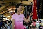 Woman shopping at Cho Ben Thanh market,Ho Chi Minh City,Vietnam