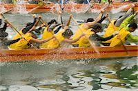 forward - Dragon boat race at Shaukeiwan,Hong Kong                                                                                                                                                                 Stock Photo - Premium Rights-Managednull, Code: 855-03024032