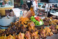 food stalls - Roast chicken and lamb displaying in a food stall in the night market of Erdaoqiao,Wulumuqi,Xinjiang Uyghur autonomy district,Silk Road,China                                                            Stock Photo - Premium Rights-Managednull, Code: 855-03024776