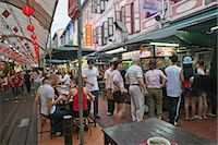 food stalls - Smith Street (food street) in Chinatown,Singapore                                                                                                                                                        Stock Photo - Premium Rights-Managednull, Code: 855-03025023