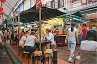 food stalls - Smith Street (food street) in Chinatown,Singapore                                                                                                                                                        Stock Photo - Premium Rights-Managednull, Code: 855-03025024