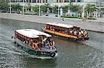 Boat tour on Singapore River,Clarke Quay,Singapore                                                                                                                                                       Stock Photo - Premium Rights-Managed, Artist: Oriental Touch           , Code: 855-03025211