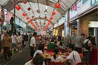 food stalls - Smith Street (food street) in Chinatown,Singapore                                                                                                                                                        Stock Photo - Premium Rights-Managednull, Code: 855-03025243
