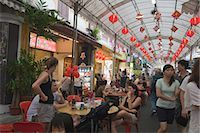 food stalls - Smith Street (food street) in Chinatown,Singapore                                                                                                                                                        Stock Photo - Premium Rights-Managednull, Code: 855-03025244