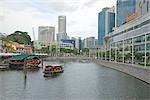 Commercial buildings at Clarke Quay,Singapore                                                                                                                                                            Stock Photo - Premium Rights-Managed, Artist: Oriental Touch           , Code: 855-03025271