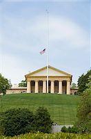 flag at half mast - Arlington National Cemetery, Arlington, Virginia, United States of America, North America                                                                                                                Stock Photo - Premium Rights-Managednull, Code: 841-03027725