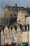 View of Edinburgh Castle from Grassmarket, Edinburgh, Lothian, Scotland, United Kingdom, Europe                                                                                                          Stock Photo - Premium Rights-Managed, Artist: Robert Harding Images    , Code: 841-03031165