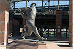 Mickey Mantle, Bricktown Ballpark, Oklahoma City, Oklahoma, United States of America, North America                                                                                                      Stock Photo - Premium Rights-Managed, Artist: Robert Harding Images    , Code: 841-03031261