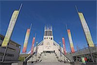 pennant flag - Roman Catholic Metropolitan Cathedral, Liverpool, Merseyside, England, UK                                                                                                                                Stock Photo - Premium Rights-Managednull, Code: 841-03032143