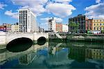O'Connell Bridge and River Liffey, Dublin, Eire (Rpublic of Ireland), Europe