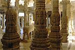 Jain temple of Adinatha, Ranakpur, Rajasthan, India, Asia                                                                                                                                                Stock Photo - Premium Rights-Managed, Artist: Robert Harding Images    , Code: 841-03032792