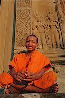 Buddhist monk at Angkor Wat, Angkor, Siem Reap, Cambodia, Indochina, Asia                                                                                                                                Stock Photo - Premium Rights-Managednull, Code: 841-03032905