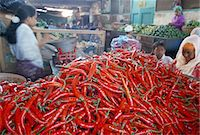 Pile of chillies for sale, Panean market, Chinese quarter, Surabaya, island of Java, Indonesia, Southeast Asia, Asia                                                                                     Stock Photo - Premium Rights-Managednull, Code: 841-03033826