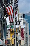 Flags and signs,W24th Street,New York City,New York,United States of America,North America                                                                                                               Stock Photo - Premium Rights-Managed, Artist: robertharding, Code: 841-03034869