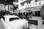 1950's car outside the Avalon Hotel,South Beach,Miami Beach,Florida,United States of America                                                                                                             Stock Photo - Premium Rights-Managed, Artist: Robert Harding Images    , Code: 841-03035323