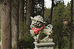 Lion statue,cedar forest,Alishan National Forest recreation area,Chiayi County,Taiwan,Asia                                                                                                               Stock Photo - Premium Rights-Managed, Artist: Robert Harding Images    , Code: 841-03035812