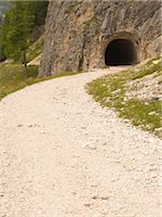 forward - Curving dirt road with tunnel                                                                                                                                                                            Stock Photo - Premium Rights-Managednull, Code: 859-03036361