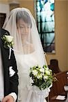 Bride Standing with Groom in Church                                                                                                                                                                      Stock Photo - Premium Rights-Managed, Artist: Aflo Relax               , Code: 859-03039162