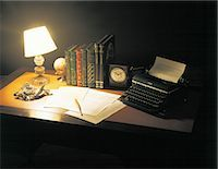 Desk With Old Typewriter                                                                                                                                                                                 Stock Photo - Premium Rights-Managednull, Code: 859-03041448