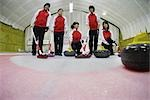 Curling Team Portrait