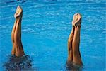 Synchronized swimming pair                                                                                                                                                                               Stock Photo - Premium Rights-Managed, Artist: Aflo Sport               , Code: 858-03046780