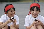 Children Eating Riceball                                                                                                                                                                                 Stock Photo - Premium Rights-Managed, Artist: Aflo Sport               , Code: 858-03046972