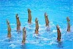 Synchronized Swimmers                                                                                                                                                                                    Stock Photo - Premium Rights-Managed, Artist: Aflo Sport               , Code: 858-03047006