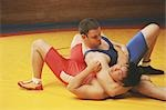 Wrestler Doing a Choke Hold                                                                                                                                                                              Stock Photo - Premium Rights-Managed, Artist: Aflo Sport               , Code: 858-03047623