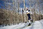 Cross Country Skiing                                                                                                                                                                                     Stock Photo - Premium Rights-Managed, Artist: Aflo Sport               , Code: 858-03048402