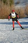 Cross Country Skiing                                                                                                                                                                                     Stock Photo - Premium Rights-Managed, Artist: Aflo Sport               , Code: 858-03048411