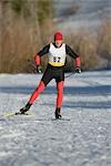 Cross Country Skiing                                                                                                                                                                                     Stock Photo - Premium Rights-Managed, Artist: Aflo Sport               , Code: 858-03048417
