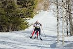 Cross Country Skiing                                                                                                                                                                                     Stock Photo - Premium Rights-Managed, Artist: Aflo Sport               , Code: 858-03048427