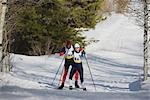 Cross Country Skiing                                                                                                                                                                                     Stock Photo - Premium Rights-Managed, Artist: Aflo Sport               , Code: 858-03048429