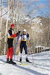 Cross Country Skiers                                                                                                                                                                                     Stock Photo - Premium Rights-Managed, Artist: Aflo Sport               , Code: 858-03048435