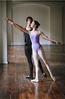 Teenager ballet dancers practicing together                                                                                                                                                              Stock Photo - Premium Rights-Managednull, Code: 858-03049463