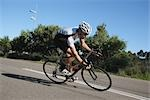 Cyclist cycling on road                                                                                                                                                                                  Stock Photo - Premium Rights-Managed, Artist: Aflo Sport               , Code: 858-03049521