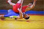 Wrestler Slamming Opponent                                                                                                                                                                               Stock Photo - Premium Rights-Managed, Artist: Aflo Sport               , Code: 858-03049621