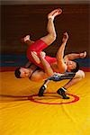 Wrestler Throwing Opponent                                                                                                                                                                               Stock Photo - Premium Rights-Managed, Artist: Aflo Sport               , Code: 858-03049630