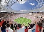 Daytime Stadium View                                                                                                                                                                                     Stock Photo - Premium Rights-Managed, Artist: Aflo Sport               , Code: 858-03050245