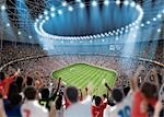 Nighttime Stadium View                                                                                                                                                                                   Stock Photo - Premium Rights-Managed, Artist: Aflo Sport               , Code: 858-03050247