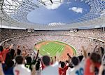 Daytime Stadium View                                                                                                                                                                                     Stock Photo - Premium Rights-Managed, Artist: Aflo Sport               , Code: 858-03050251