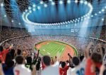 Nighttime Stadium View                                                                                                                                                                                   Stock Photo - Premium Rights-Managed, Artist: Aflo Sport               , Code: 858-03050253