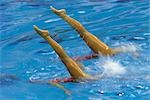 Synchronized Swimming                                                                                                                                                                                    Stock Photo - Premium Rights-Managed, Artist: Aflo Sport               , Code: 858-03051438