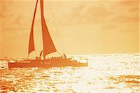 sailboat  ocean - Boating                                                                                                                                                                                                  Stock Photo - Premium Rights-Managednull, Code: 858-03052089