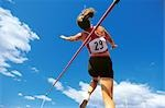 Pole Vault Jump                                                                                                                                                                                          Stock Photo - Premium Rights-Managed, Artist: Aflo Sport               , Code: 858-03052677