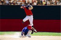 professional baseball game - Baseball (Sliding)                                                                                                                                                                                       Stock Photo - Premium Rights-Managednull, Code: 858-03052785