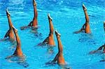 Synchronized Swimming                                                                                                                                                                                    Stock Photo - Premium Rights-Managed, Artist: Aflo Sport               , Code: 858-03053201