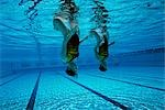 Synchronized Swimming                                                                                                                                                                                    Stock Photo - Premium Rights-Managed, Artist: Aflo Sport               , Code: 858-03053204